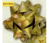 Nekupto Starfish Medium Luxury Christmas, Gold 6.5 cm HV 209 01
