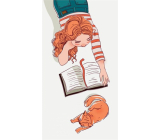 Albi Magnetic bookmark for the book The Girl reads 8.7 x 4.4 cm