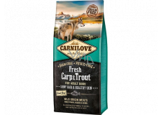 Carnilove Adult Fresh Carp & Trout super premium complete food for adult dogs of all breeds 12 kg