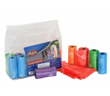 Trixie Bags for dog excrement 6 cm 14 rolls x 15 bags colored with paws