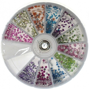 Professional nail decorations rhinestones color mix 12 colors 1 pack