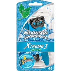 Wilkinson Xtreme Refresh 3 Menthol ready razor 3 blades 4 pieces