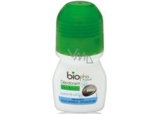 BioPha Květ lenu kuličkový deodorant bez alkoholu, soli, hliníku pro citlivou pokožku v biokvalitě roll-on pro ženy 50 ml