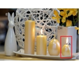 Lima Pastel candle metal dark yellow egg 40 x 60 mm 1 piece
