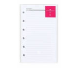 Albi Lined diary sheets manager A6 12,8 x 8,4 x 0,3 cm