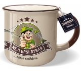 Nekupto Hobby mug with the words Best Fisherman 250 ml