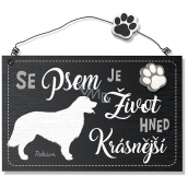 Nekupto Hafani wooden sign Retriever 155 x 98 x 5 mm