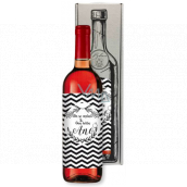 Bohemia Gifts Pink wedding wine He asked and She said yes gift wine for wedding 750 ml