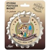 Nekupto Hobby 3in1 Opener, Coaster, Magnet Best gardener 10 cm