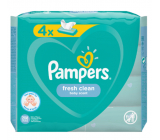 Pampers Fresh Clean wet wipes for children 4 x 52 pieces