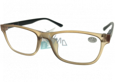 Berkeley Reading glasses +1.0 plastic light brown, black sides 1 piece MC2184