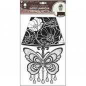 Room Decor Wall lamp self-adhesive illuminated LED butterfly 31 cm
