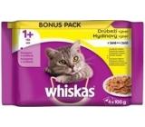 Whiskas Drůbeží výběr v želé kapsičky pro dospělé kočky 4 x 100g