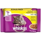 Whiskey Poultry selection in jelly pockets for adult cats 4 x 100g