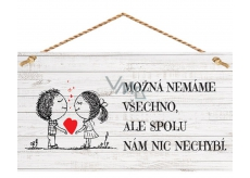 Bohemia Gifts & Cosmetics Decorative image for hanging Together we have nothing to miss 13 x 24 cm