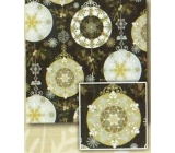 Nekupto Gift wrapping paper 70 x 200 cm Christmas Black, silver, gold balls