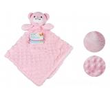 First Steps Sleeping bag with plush head Pink bear 30 x 28 cm