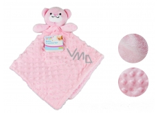 First Steps Sleeping bag with plush head Pink bear 30 x 28 cm