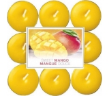 Bolsius Aromatic Sweet Mango - Sweet mango scented tea candles 18 pieces, burning time 4 hours