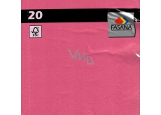 Fasana Paper napkins colored pink 3 ply 33 x 33 cm 20 pieces