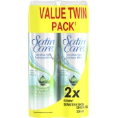 Gillette Satin Care With Aloe Vera Sensitive Skin shaving gel for women 2 x 200 ml, duopack
