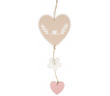 Wooden heart for hanging 28 cm