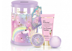 Baylis & Harding Unicorn shower cream 100 ml + body cream 50 ml + sparkling ballistic bath 140 g + money box with unicorn motif, cosmetic set
