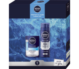 Nivea Men Protect & Care Shave Kit 2in1 aftershave 100 ml + shaving foam 200 ml, cosmetic set for men