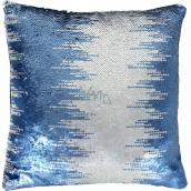Albi Pillow with sequins Blue 37 x 37 x 10 cm