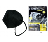 Famex Respirator oral protective 5-layer FFP2 face mask black 1 piece