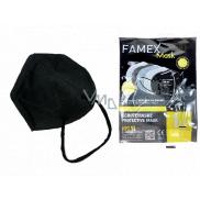 Famex Respirator oral protective 5-layer FFP2 face mask black 1 piece