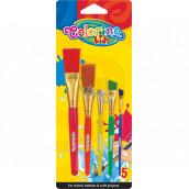 Colorino Jumbo brush with plastic nozzle 5 pieces