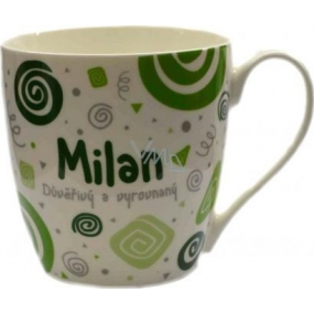 Nekupto Twister hrnek se jménem Milan zelený 0,4 litru 052 1 kus
