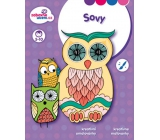 Ditipo Creative Coloring Book Owls 16 pages A4 215 x 275 mm