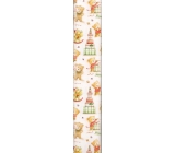Ditipo Christmas paper wrapping paper white with teddy bears 100 x 70 cm 2013912 2 pieces