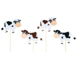 Spotted cow recess 7.5 cm + skewers 1 piece