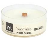 WoodWick Magnolia - Magnólie vonná svíčka s dřevěným knotem sklo petite 31 g