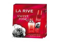 La Rive Sweet Rose perfumed water for women 90 ml + deodorant spray 150 ml gift set