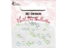 Absolute Cosmetics Nail Art 3D Nail Stickers 10100-3 1 sheet