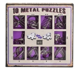 Albi Set of 10 metal puzzles purple, age 7+