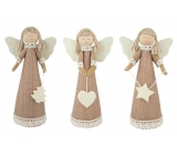Jute angel with lace for standing 18 cm 1 piece
