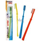 Spokar 3412 Orto mekký zubní kartáček U zástřih vhodný i pro ortodontické použití