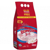 Bonux Color Pure Magnolia 3 in 1 washing powder for colored laundry 60 + 20 doses of 6 kg