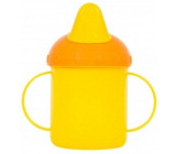 First Steps Mug with two handles yellow 260 ml
