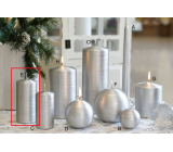 Lima Alfa candle silver cylinder 60 x 120 mm 1 piece