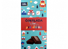 Albi Action milk chocolate for the holidays 50 g 13.5 x 7.2 cm
