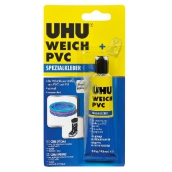 Uhu Weich PVC Glue for repairs and gluing of softened plastics with a patch of 30 g