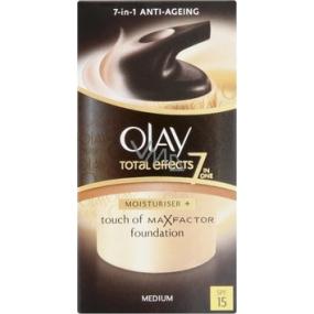 Olay Total Effects Touch of Foundation Medium 7v1 SPF15 denní krém 50 ml