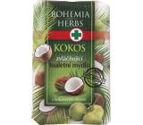 Bohemia Gifts & Cosmetics Kokos toaletní mýdlo s kokosovým olejem a glycerinem 100 g