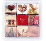 Albi Čokosnímky III I love you box of 9 small milk chocolates 45 g